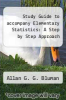 cover of Study Guide to accompany Elementary Statistics: A Step by Step Approach (4th edition)