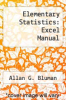 cover of Elementary Statistics: Excel Manual (4th edition)