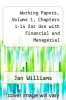 cover of Working Papers, Volume 1, Chapters 1-14 for Use with Financial and Managerial Accounting: A Basis for Business Decisions (12th edition)