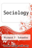 cover of Sociology (9th edition)