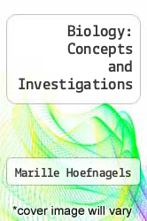 Cover of Biology: Concepts and Investigations 1 (ISBN 978-0072916904)