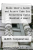 cover of Aleks User`s Guide and Access Code for Accounting Cycle (Bundled 6 Week)