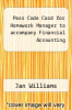 cover of Pass Code Card for Homework Manager to accompany Financial Accounting (13th edition)