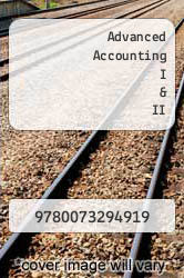 Cover of Advanced Accounting I & II  (ISBN 978-0073294919)