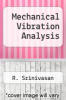 cover of Mechanical Vibration Analysis
