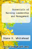 cover of Essentials of Nursing Leadership and Management (4th edition)