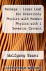 cover of Package - Loose Leaf for University Physics with Modern Physics with 1 Semester Connect Access Card (2nd edition)