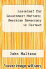 cover of Looseleaf for Government Matters: American Democracy in Context (1st edition)