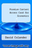 cover of Premium Content Access Card for Economics (9th edition)