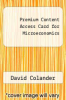 cover of Premium Content Access Card for Microeconomics (9th edition)