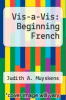cover of Vis-a-Vis: Beginning French (1st edition)