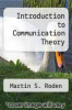 cover of Introduction to Communication Theory