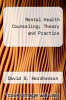 cover of Mental Health Counseling; Theory and Practice