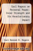 cover of Carl Rogers on Personal Power: Inner Strength and Its Revolutionary Impact