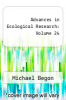 cover of Advances in Ecological Research: Volume 24