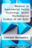 cover of Advances in Experimental Social Psychology: Social Psychological Studies of the Self: Perspectives and Programs