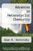 cover of Advances in Heterocyclic Chemistry