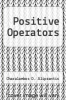cover of Positive Operators