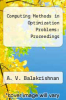 cover of Computing Methods in Optimization Problems: Proceedings