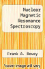 cover of Nuclear Magnetic Resonance Spectroscopy (2nd edition)