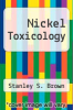 cover of Nickel Toxicology