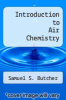 cover of Introduction to Air Chemistry