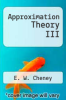 cover of Approximation Theory III