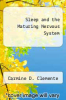 cover of Sleep and the Maturing Nervous System