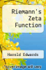 cover of Riemann`s Zeta Function