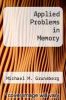 cover of Applied Problems in Memory