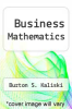cover of Business Mathematics (3rd edition)