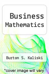 Cover of Business Mathematics 3 (ISBN 978-0123947604)