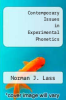 cover of Contemporary Issues in Experimental Phonetics