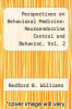 cover of Perspectives on Behavioral Medicine: Neuroendocrine Control and Behavior, Vol. 2