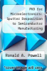 cover of PVD for Microelectronics: Sputter Desposition to Semiconductor Manufacturing (1st edition)