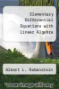 cover of Elementary Differential Equations with Linear Algebra (2nd edition)