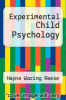 cover of Experimental Child Psychology