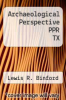 cover of Archaeological Perspective PPR TX