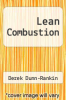 cover of Lean Combustion (2nd edition)