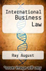 cover of International Business Law (3rd edition)