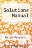 cover of Solutions Manual (8th edition)
