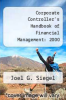 cover of Corporate Controller`s Handbook of Financial Management: 2000 Edition