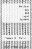 cover of American Law and Legal Systems