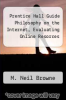 cover of Prentice Hall Guide Philosophy on the Internet, Evaluating Online Resorces (1st edition)