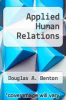 cover of Applied Human Relations (4th edition)
