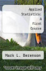 cover of Applied Statistics: A First Course