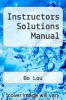 cover of Instructors Solutions Manual (5th edition)