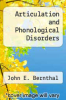 cover of Articulation and Phonological Disorders (2nd edition)