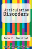 cover of Articulation Disorders