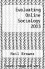cover of Evaluating Online Sociology 2003 (1st edition)
